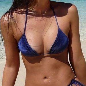 Velvet triangl bikini top